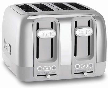 4 Slice Toaster Dualit Energy-Efficient for Commercial Use Stainless Steel